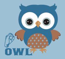 O is for Owl - ASL Kids Tee