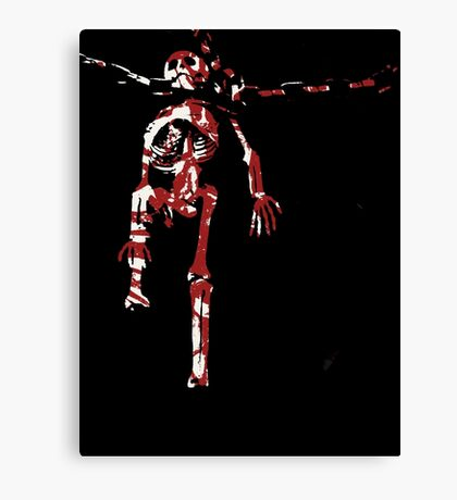 Scary Skeletal Canvas Print