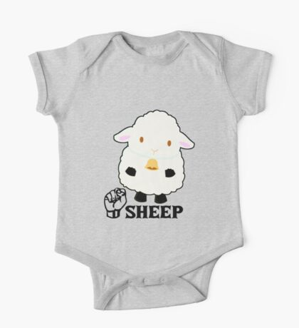 S is for Sheep - ASL One Piece - Short Sleeve