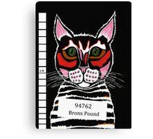 Cat Mug Shot Canvas Print