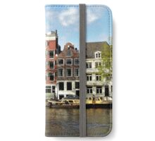 Late afternoon sunshine at Amsterdam iPhone Wallet/Case/Skin