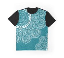 Tulips Mandala in Biscay Bay Color Graphic T-Shirt