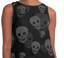 Skull Pattern Contrast Tank