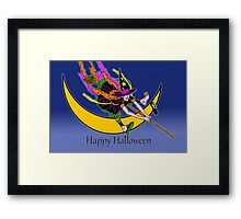 Halloween Pedicurse, Funny Witch Framed Print