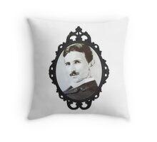 NikolaTesla Framed Throw Pillow