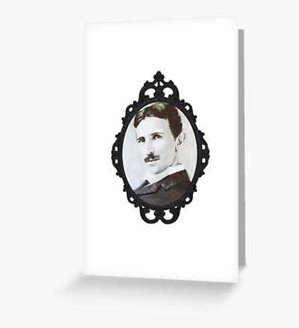 NikolaTesla Framed Greeting Card