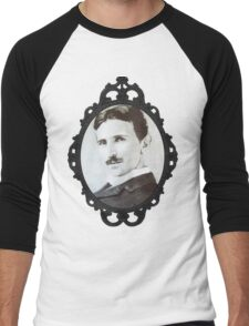 NikolaTesla Framed Men's Baseball ¾ T-Shirt