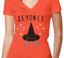 Seyonce Women's Fitted V-Neck T-Shirt