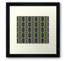 holly pattern Framed Print