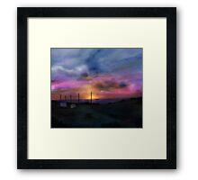 Beach Sun Set Framed Print