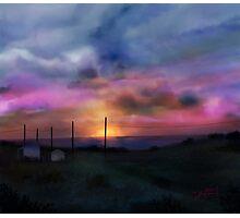 Beach Sun Set Photographic Print
