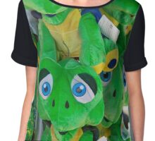 Blue Eyed Frogs Chiffon Top