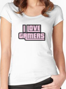 I Love Gamers Women's Fitted Scoop T-Shirt