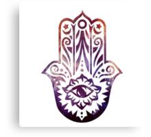 Purple Orange Fatima Hand Hamsa Canvas Print