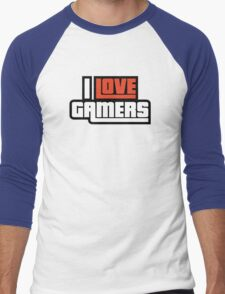I Love Gamers Men's Baseball ¾ T-Shirt