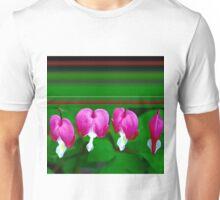 Bleeding Hearts and Stripes Unisex T-Shirt