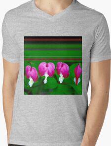 Bleeding Hearts and Stripes Mens V-Neck T-Shirt