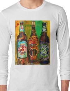 Brooklyn Beer Lager, Summer - Men Cave Long Sleeve T-Shirt