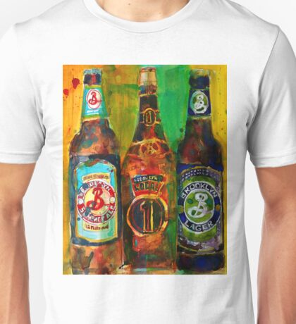 Brooklyn Beer Lager, Summer - Men Cave Unisex T-Shirt