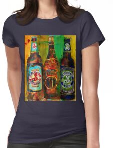Brooklyn Beer Lager, Summer - Men Cave Womens Fitted T-Shirt