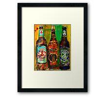 Brooklyn Beer Lager, Summer - Men Cave Framed Print