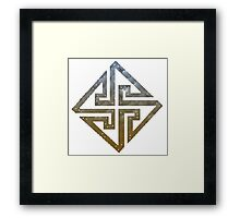 THE CROSS OF ASFLING Framed Print