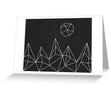 Geometric Mountains #1 Greeting Card