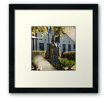Sculpture close to the Nishi Building in Canberra/ACT/Australia (4) Framed Print