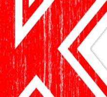 Big Red Letter K Sticker