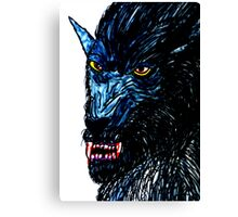 BLACK THE WEREWOLF  Canvas Print
