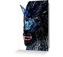 BLACK THE WEREWOLF  Greeting Card