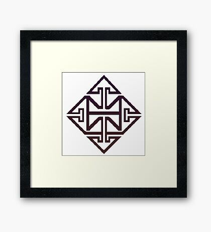SUPPORT OF DONOUGH Framed Print