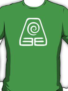 Earthbending Symbol (white) T-Shirt