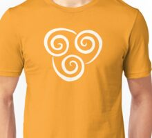 Airbending Symbol (white) Unisex T-Shirt