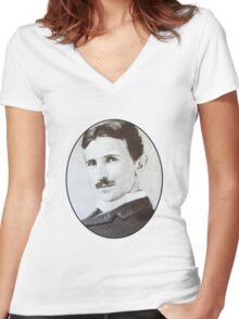 NikolaTesla Women's Fitted V-Neck T-Shirt