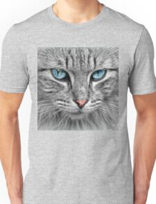 Big Grey Cat Face T-Shirt