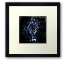Digital neonlight Dragon Framed Print