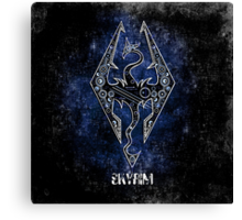 Digital Skyrim Canvas Print