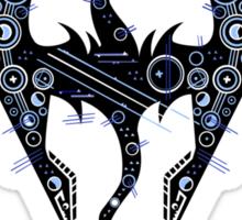 Digital neonlight Dragon rider sign logo Sticker