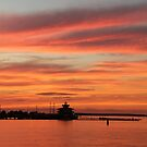 Choptank River Lighthouse, Cambridge, MD by searchlight