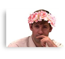 Jim Adorned with the Hottest of Flower Crowns Canvas Print