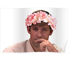 Jim Adorned with the Hottest of Flower Crowns Poster