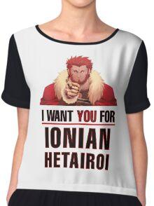 I want you for Ionian Hetairoi Army T Shirt Chiffon Top