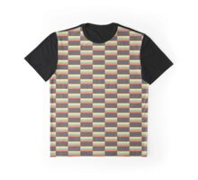 Checkered Rectangle Pattern Graphic T-Shirt