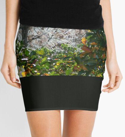 SPIDER WEB IN GREEN  Mini Skirt
