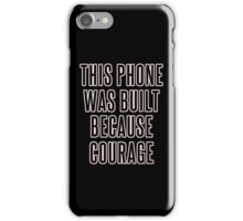 Courage iPhone Case (Jet Black & Rose Gold) iPhone Case/Skin
