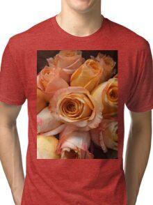 Peachy Roses Tri-blend T-Shirt