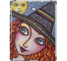 FULL MOON WISHES - Halloween, Witch iPad Case/Skin