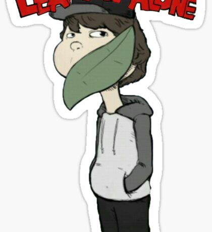 Leafyishere Leaf Me Alone idubbbzTV #nochin #2 Sticker