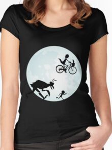 E.T. Rick and Morty Women's Fitted Scoop T-Shirt